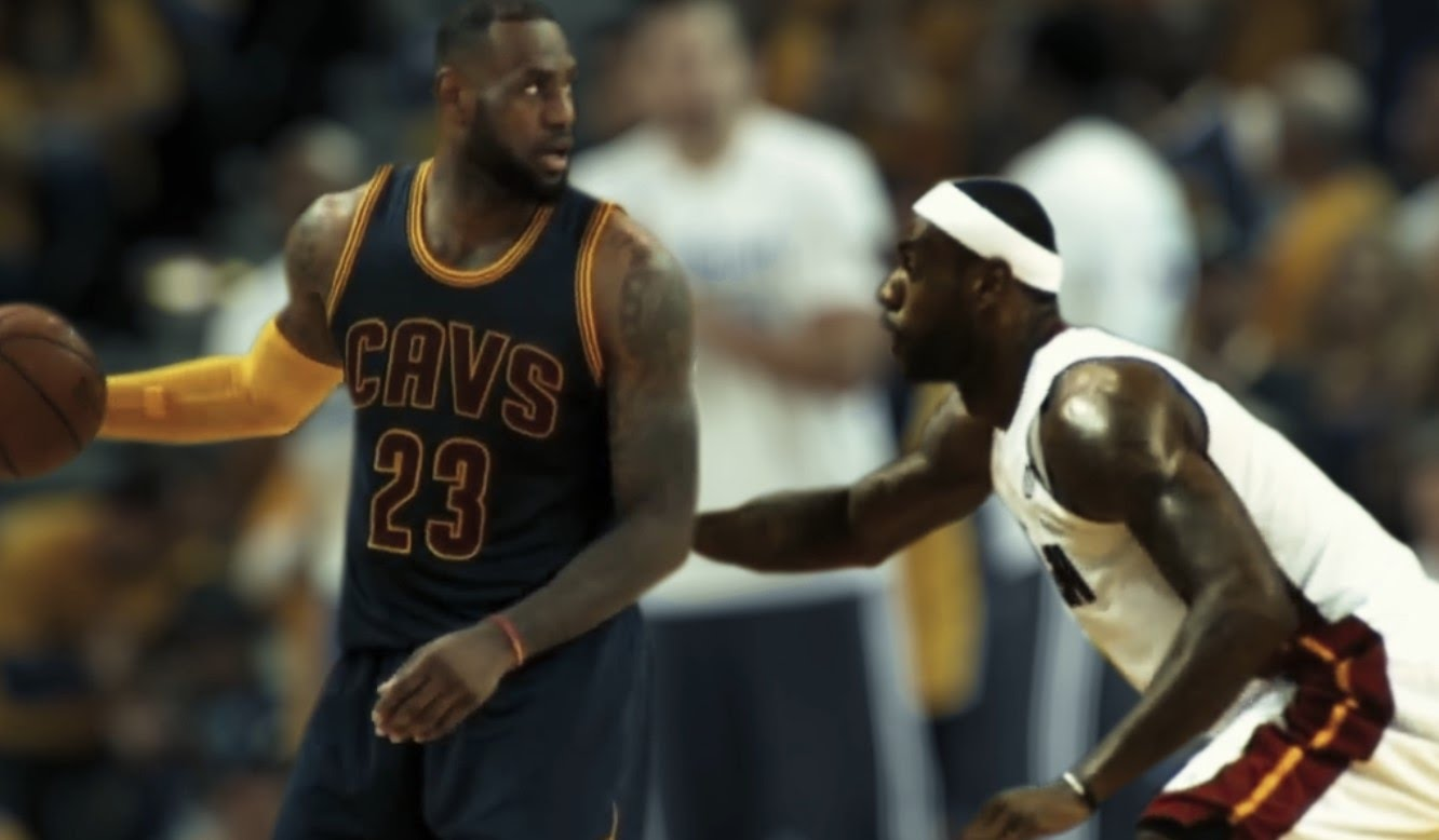 Fan Creates Incredible Video of LeBron James Playing Against Himself