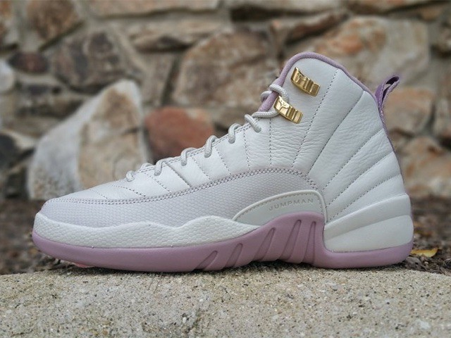 A First Look At The Air Jordan 12 GS Heiress Plum Fog