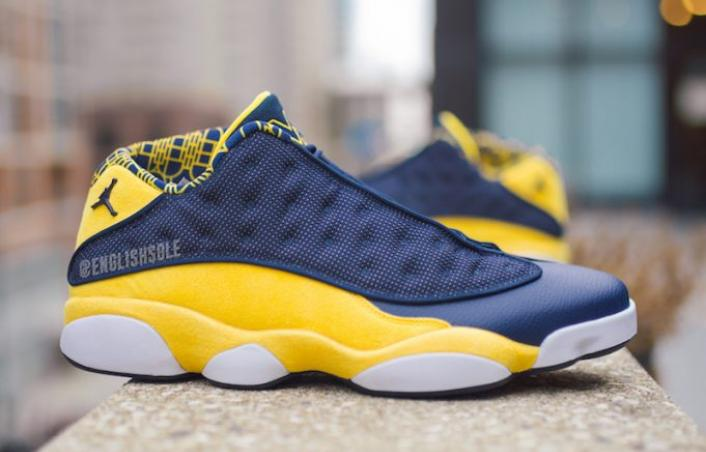 Jordan 13 Low 'Michigan' PE: Closer Look