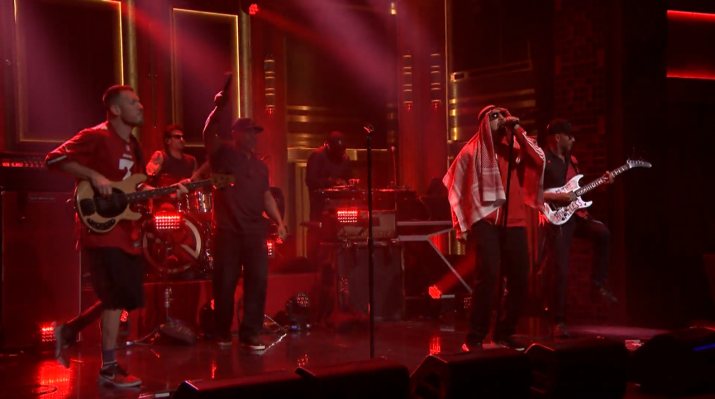 "Prophets Of Rage Performed Their Charged Up Single ""Living on the 110"" on 'Fallon Tonight'"
