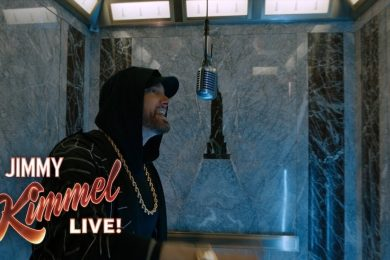 "Eminem Performs ""Venom"" at the Top of the Empire State Building"