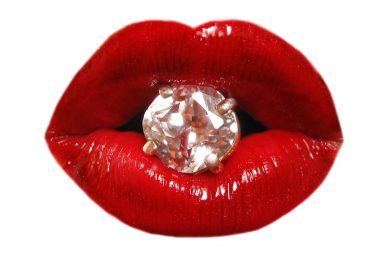 lips and diamond